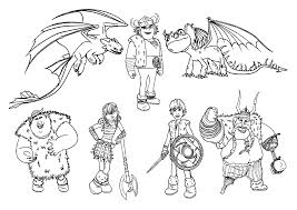 How To Train Your Dragon Coloring Pages For Kids Printable