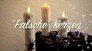 Falsche Kerzen Basteln Deko Für Halloween Weihnachten Aus Papprollen