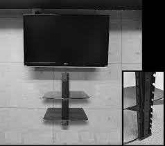 wall shelves design sophisticated tv wall mount with 2 shelves tv 2 tier wall mount shelf