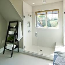 Guest Bedroom With Large Walk-in Shower and Window
