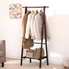 Folding Coat Rack Wooden Clothing Rack Creative Home Floor Wood Coat Rack Hangers 95