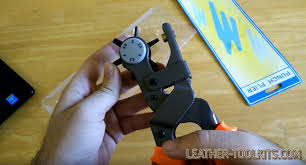 now you know how to use a leather rotary punch to create perfect cuttings in leather goods neatly cut holes in leather craft goods are a key to mastering