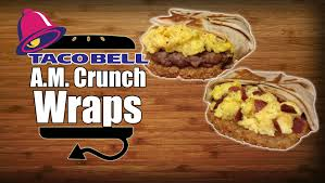 taco bell breakfast crunchwrap. Exellent Bell Taco Bell Breakfast AM Crunchwrap Sausage U0026 Turkey Bacon Recipe  YouTube For W