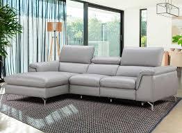 italian leather power recliner sectional sofa nj saveria