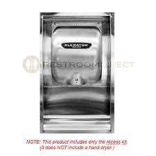 xlerator® recess kit excel dryers 40502 stainless steel recess kit for xlerator® hand dryers measurement diagram