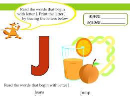 Letter J 1