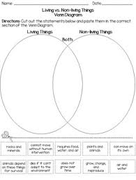 Venn Diagram Living And Nonliving Things New Living And Non Living Things Compare And Contrast Using Venn Diagrams