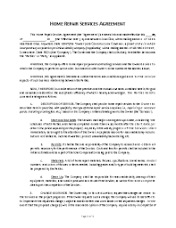 Get a free service agreement contract template here. Home Repair Contract Template Approveme Free Contract Templates