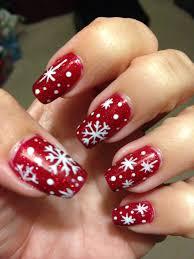 Christmas Nail Designs Shellac Christmas Snowflake Nails Design By Me On My Real Nails