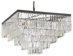 retro palladium crystal glass fringe 5 tier chandelier