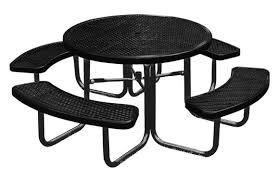 Round outdoor metal table Hampton Bay 46 American Parks Company 46