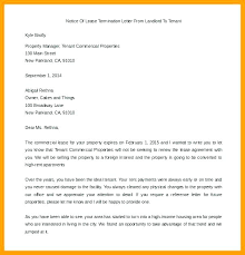 Termination Of Agreement Template Business Lease Letter End ...