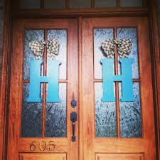 Blue Letters for Front Door