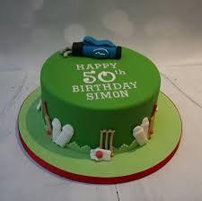 Golf Cricket Themed Cake