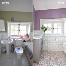 spacious all white bathroom. Before And After \u2013 From Cramped Bathroom To Spacious Shower Room All White