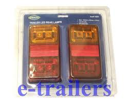 led rear trailer lorry car lights ip68 rated latest generation 4 in 1 12v