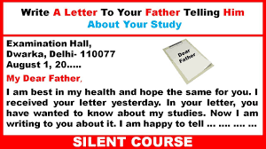 Write A Letter To Your Father Telling Him About Your Study Best