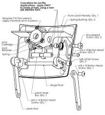 bmw k1200lt trunk latch handle kit k 1200 lt k 1200 lt trunk latch assembly diagram