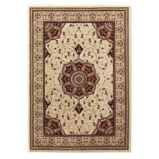 eredita cream and red rug top