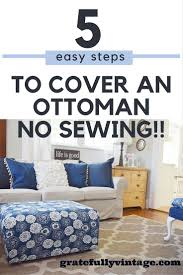 how to cover furniture. How To Cover An Ottoman With Out Having Sew!!! Furniture T