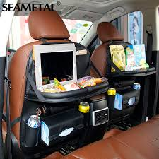 ar back seat bag car back seat bag folding table organizer bags phone pad chair storage pocket box travel stowing tidying automobile acce diy back seat