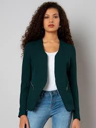 Buy FabAlley Women Green Solid Tailored Jacket - Jackets for Women 7607182  | Myntra