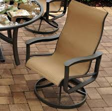 Agio Majorca Outdoor Sling Swivel Rocker with Inserted Woven ...