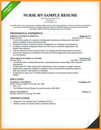 Emergency Nurse Resume Best Nurse Resume Example Datainfo