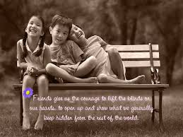 our friendship quote image with kids