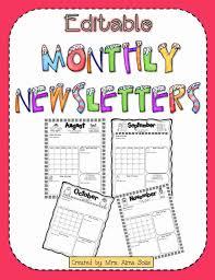 Monthly Newsletter Template For Teachers Free December Newsletter Template Lexusdarkride