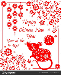 chinese new year card 2020 happy chinese new year 2020 year rat greeting decorative