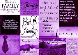 Purple Quotes Enchanting Purple Family Quotes Cotton Canvas Wall Art Picture A48 A48 A48