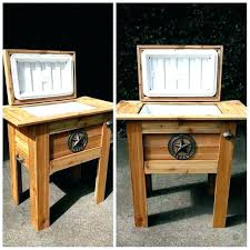 ice chest standing wheels coolers wooden cooler plans standi