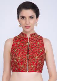 Sleeveless High Neck Blouse Designs 10 Trending Collar Neck Blouse Designs That Are Perfect For