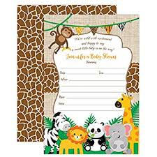 Jungle Theme Birthday Invitations Amazon Com Safari Jungle Zoo Animals Party Invitations For