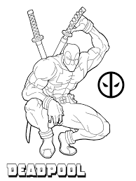 Small Picture Free deadpool coloring pages for kids ColoringStar