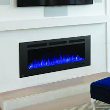 napoleon allure phantom 50 inch linear wall mount electric fireplace with mesh front nefl50fh