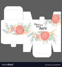 Gift Box Design Gift Box Design Template With Nature Pattern