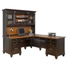 l shaped desks with hutch image martin furniture hartford desk optional hayneedle