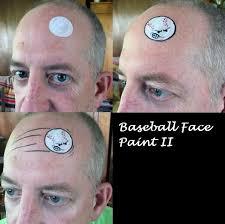face paint baseball