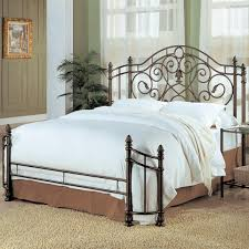 Gallery of Queen Iron Headboard Only In Antique Gold Q With Headboards