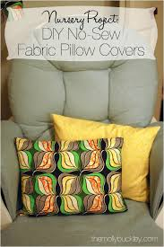 How To Cover A Pillow With Fabric Without Sewing