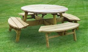 rose round picnic table 8 seater hillsborough fencing co ltd