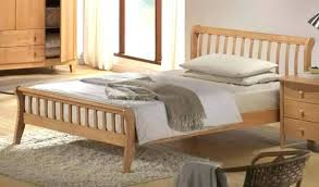 Bed Frame King Wood Wooden King Size Bed Frame Classic Rubber Wood ...