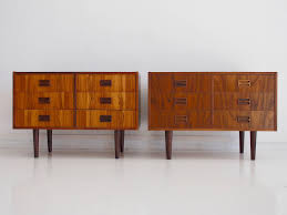 danish modern sideboards with six drawers s set of  for