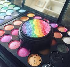 homemade rainbow highlighter