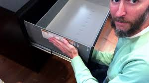 How to Remove HON Lateral File Cabinet Drawers (Model H682) - YouTube