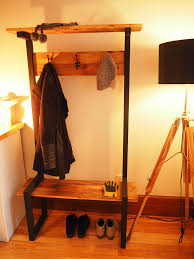 Industrial Coat Rack Bench Industrial Coat Rack Bench Hall Tree 39