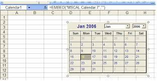 Make Calendar In Excel Excel Tips Put A Permanently Open Calendar On A Worksheet