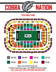 Carolina Seating Chart Official Website Of The Carolina Cobras Seating Chart
